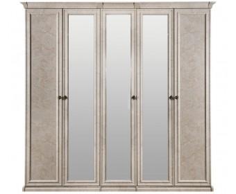 """Шкаф 5-ти ств (2+1+2) с зеркалом """"Афина"""" крем корень"""