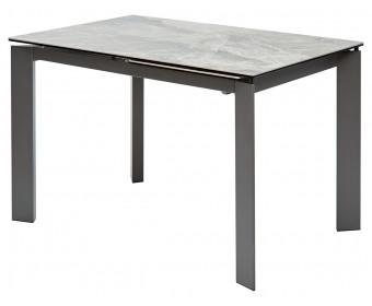 Стол CORNER 120 ITALIAN DARK GREY Серый мрамор глянцевый, керамика/ GREY1