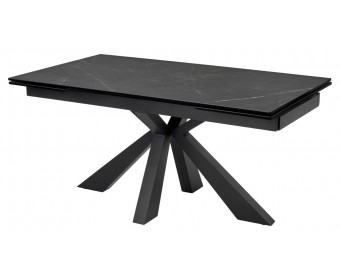 Стол ALEZIO 160 KL-135 Серо-коричневый мрамор матовый, итальянская керамика/ BLACK